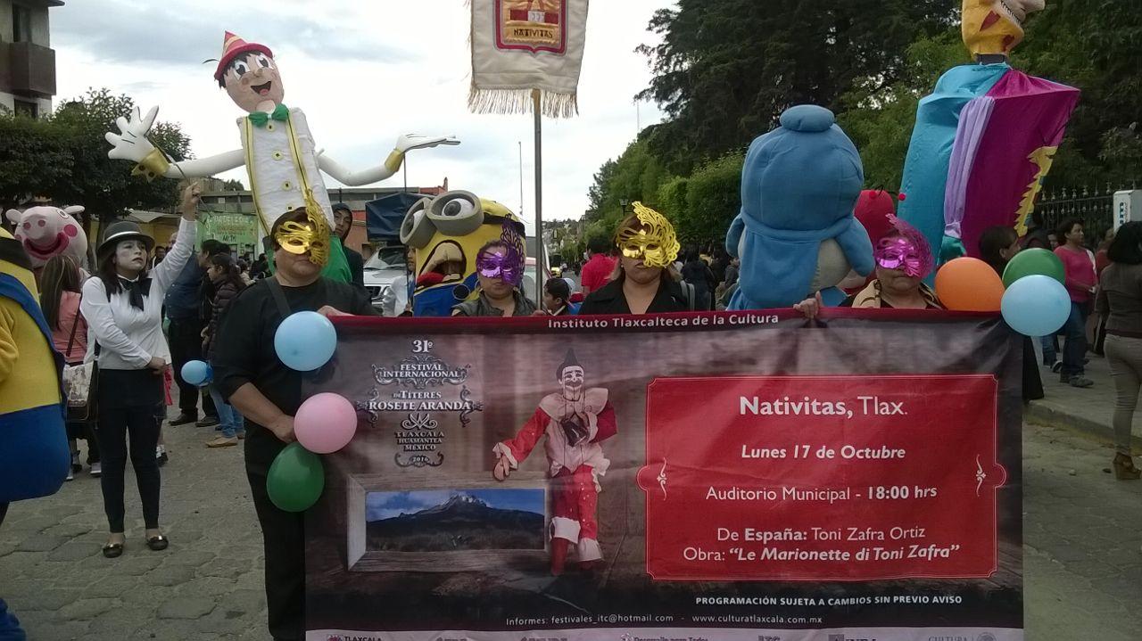 Nativitas participo en el festival de títeres Rosete Aranda en la capital