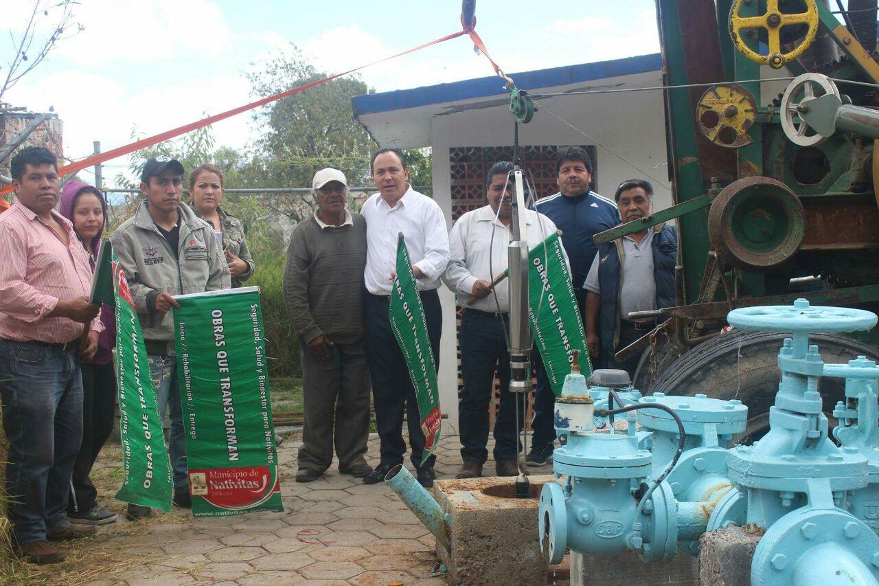 Alcalde mejora la calidad del agua potable, con mantenimiento al pozo
