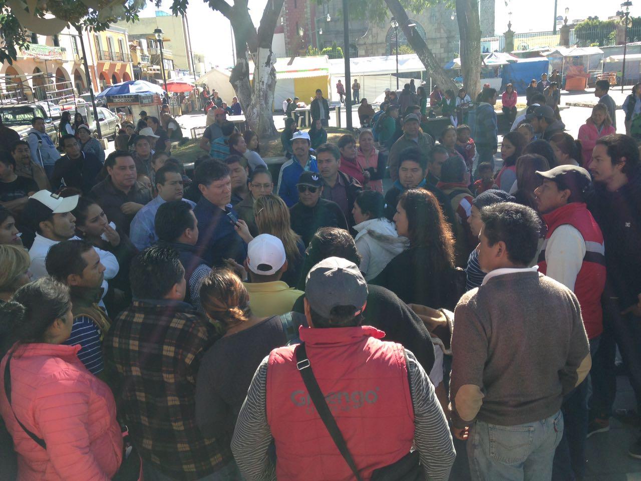 Nueva manifestación en Zacatelco ahora son comerciantes