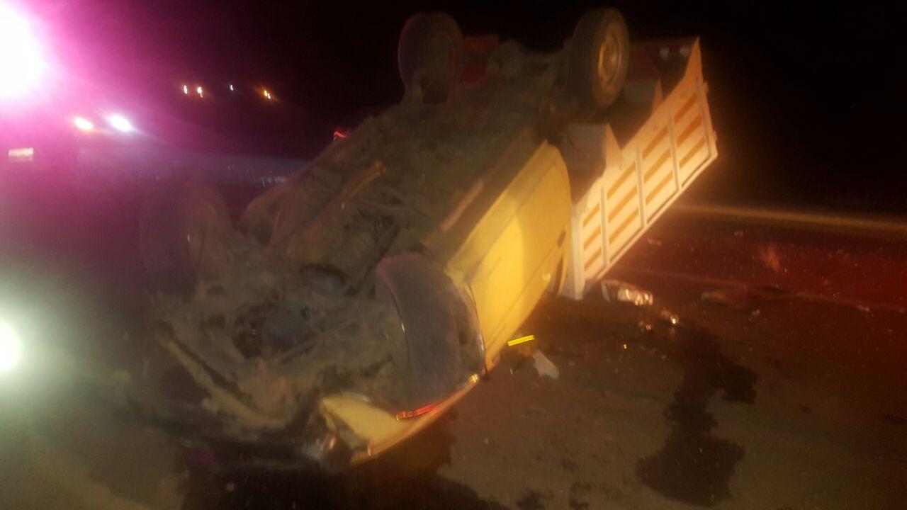 Un muerto y un lesionado, deja volcadura en la carretera Apizaco-Tlaxco