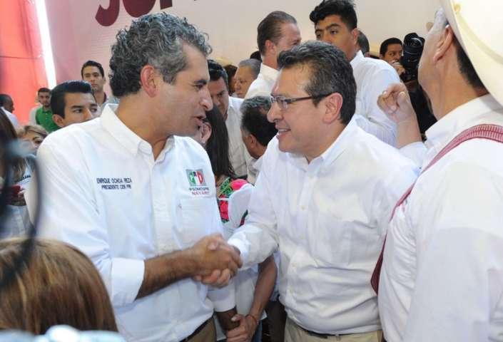 Asiste Marco Mena a protesta de Manuel Cota como candidato del PRI en Nayarit