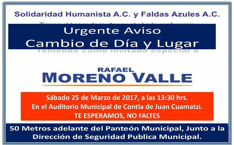 Le da miedo y recula en la sede por visita de Moreno Valle