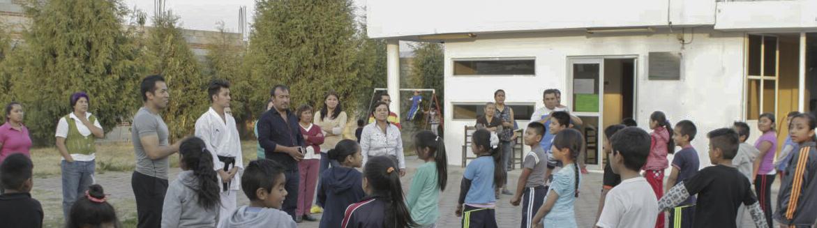 Curso de karate do en Tepeyanco y comunidad de la Aurora