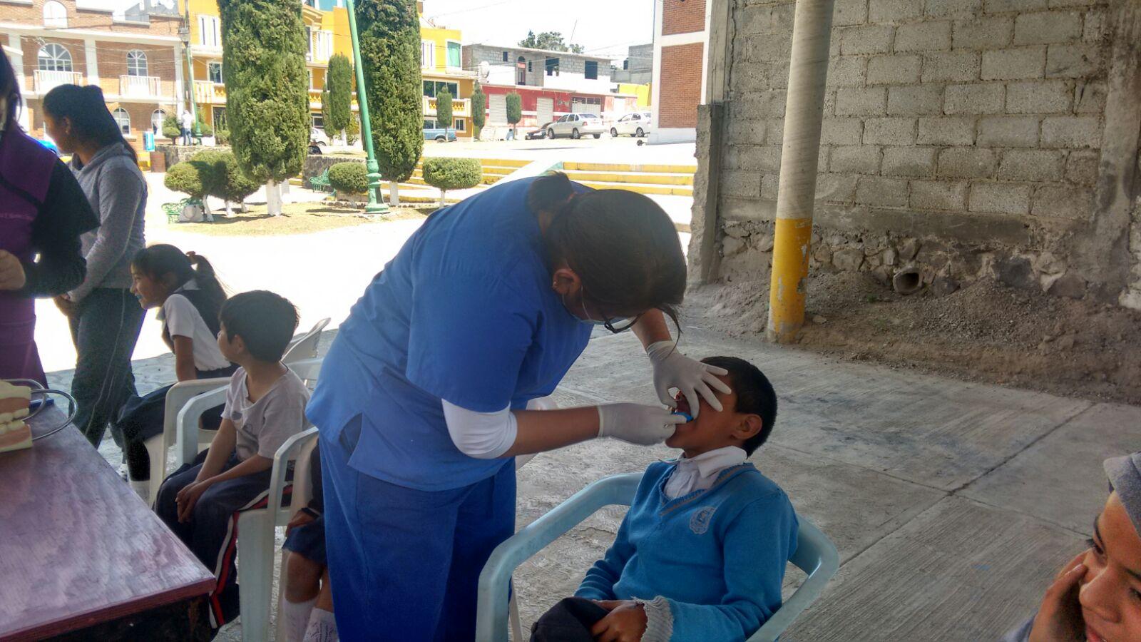Ayuntamiento y la UAT llevo a cabo campaña de higiene bucal