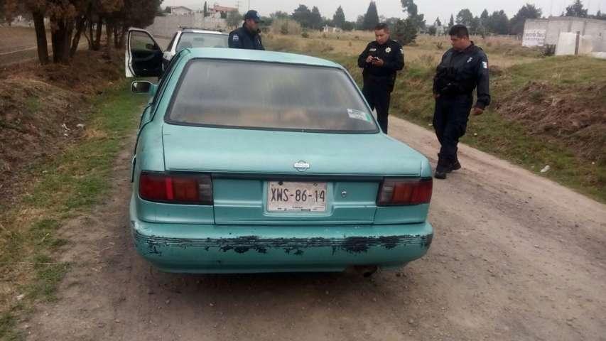 Elementos de seguridad pública de Tetla, localizan unidad robada