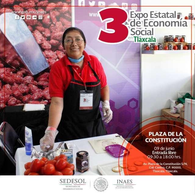 Empresarios de Tlaxcala presentan productos en 3ª Expo Estatal de Economia Social