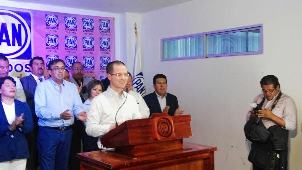 CEN no intervendrá en designación de candidatos en estados: Anaya