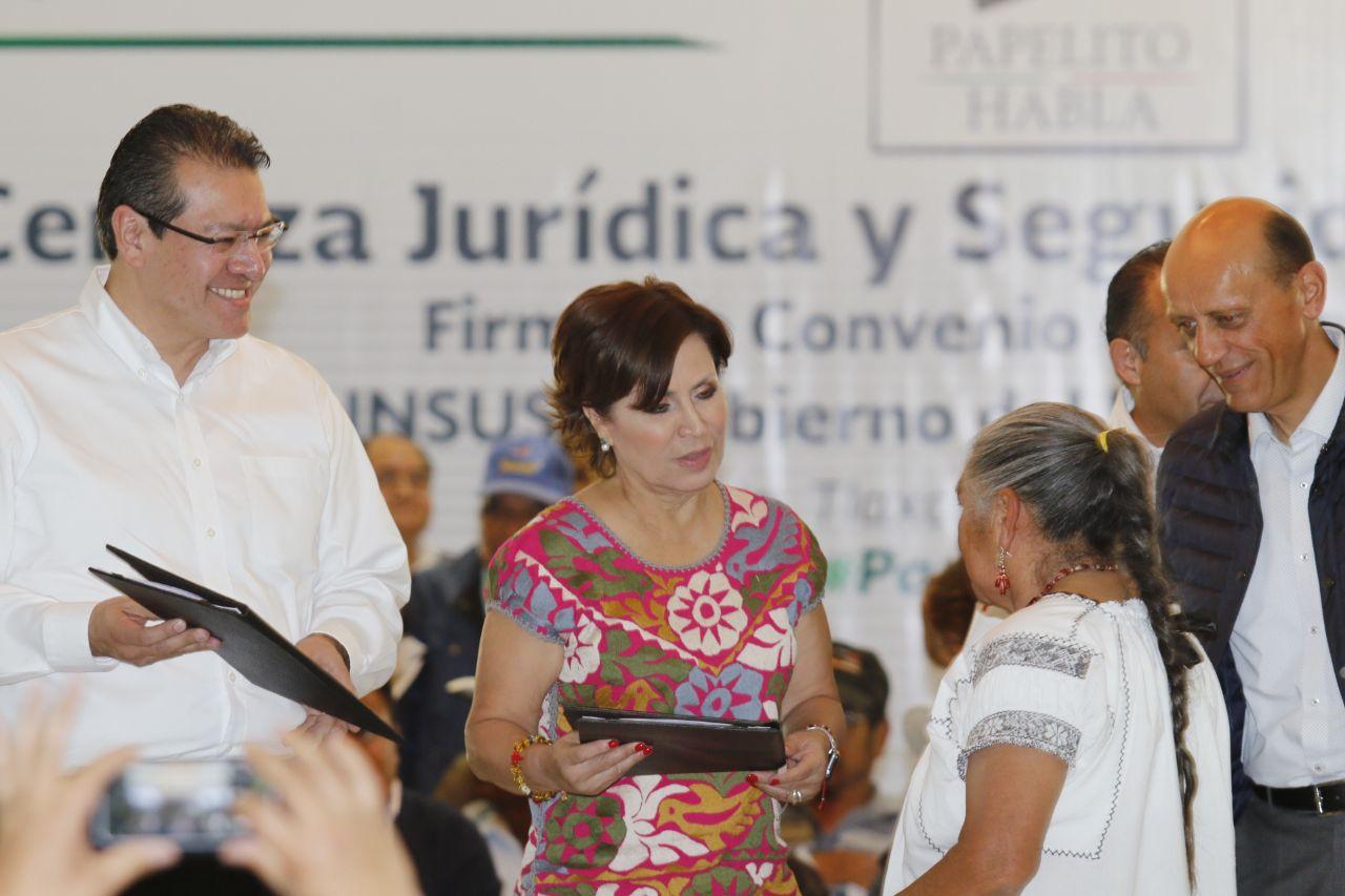 20 mil títulos de propiedad se han entregado en Tlaxcala durante el sexenio de EPN