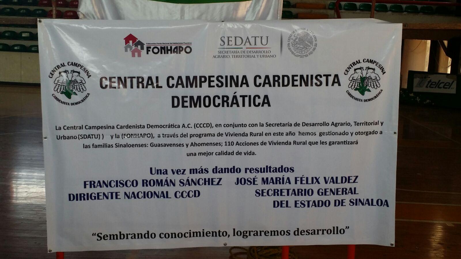 La Central Campesina Cardenista Democrática Entrega 110 Acciones de Vivienda