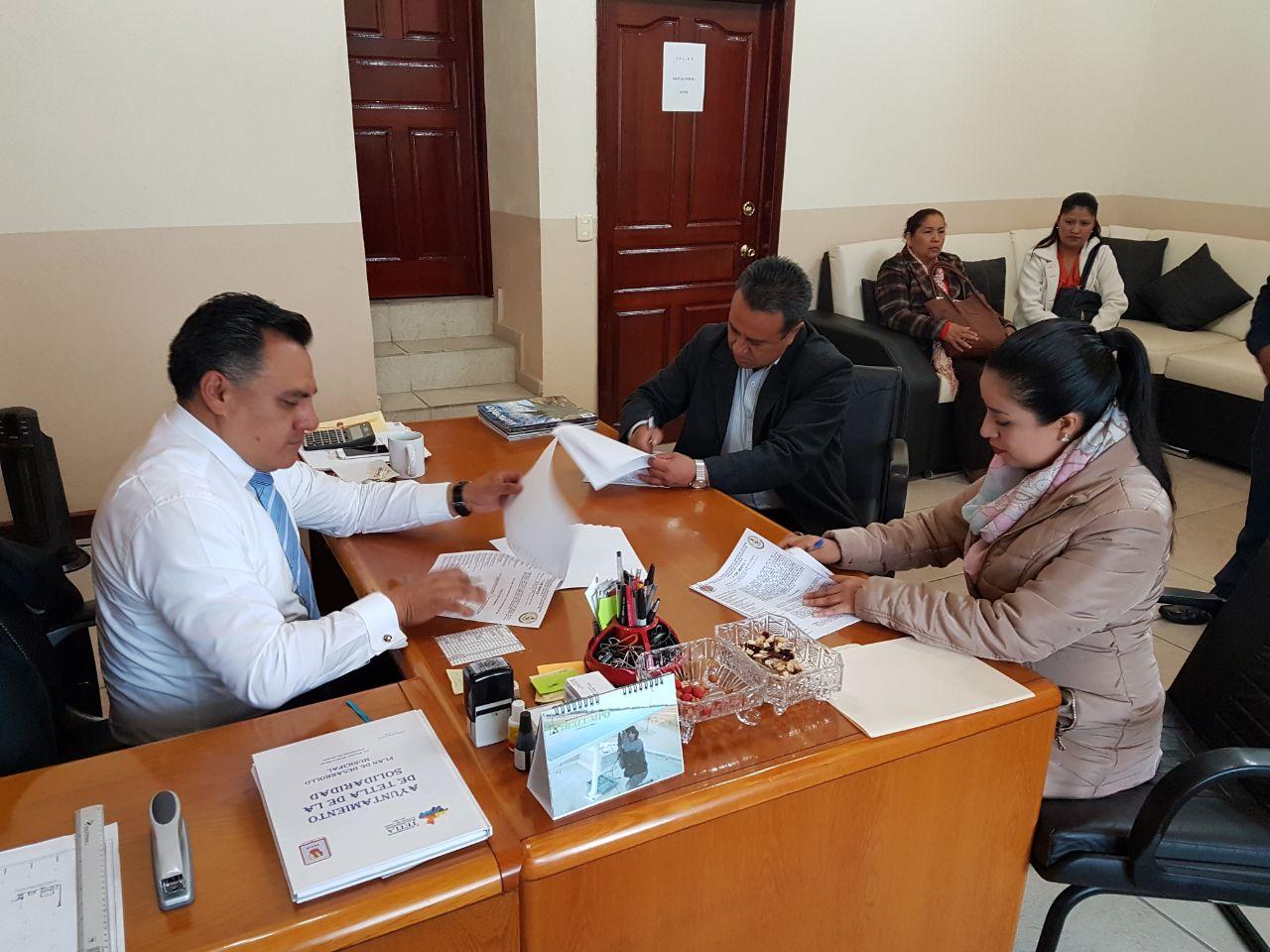 Firma contrato colectivo de trabajo Ayto. de Tetla de la Solidaridad y sindicato 7 de mayo