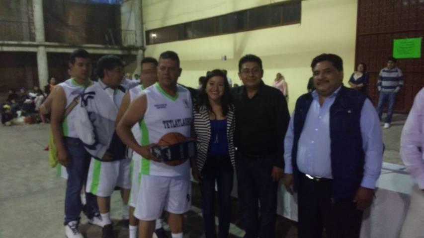 Huactzinco sede del 1er torneo intermunicipal de basquetbol del distrito XIV
