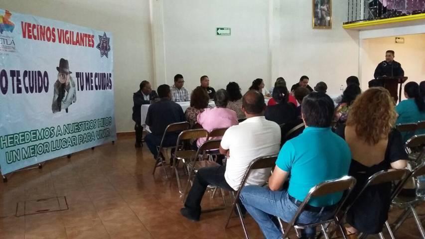 Se llevo a cabo la segunda reunión de vecinos vigilantes en Tetla de la Solidaridad