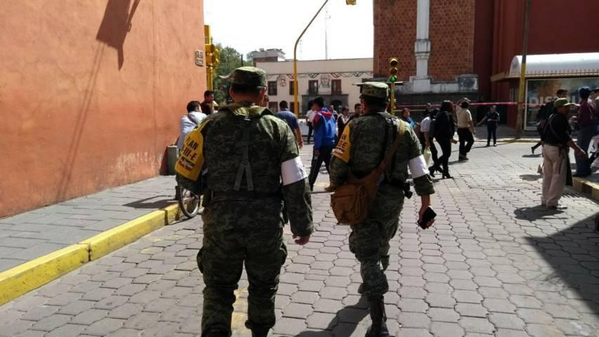 Elementos del Ejército trabaja de manera coordinada con autoridades civiles