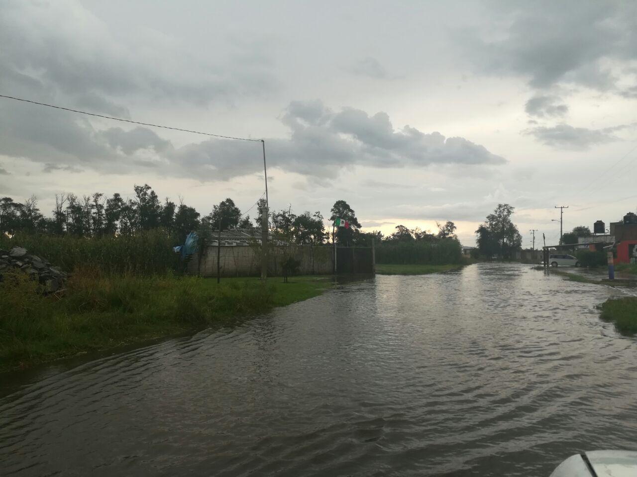 Granizada provoca inundaciones en Lardizábal y  desborda el canal Rojano