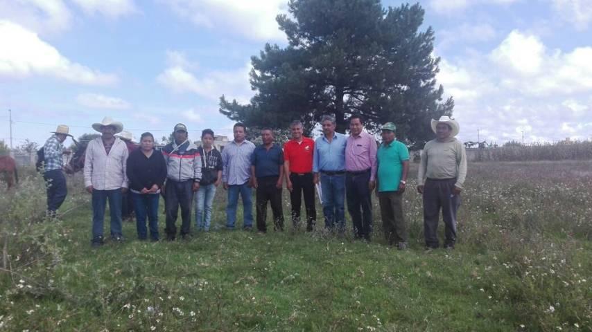 Agricultores de San Pablo del Monte reciben acémilas