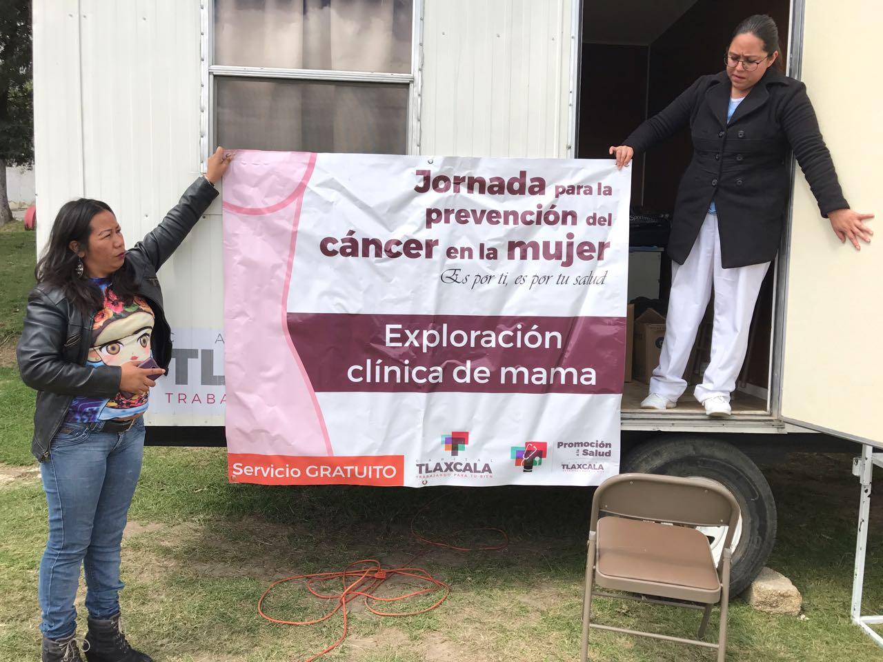 Mantendrá Ayuntamiento de Tlaxcala campaña gratuita de detección de cáncer en la mujer