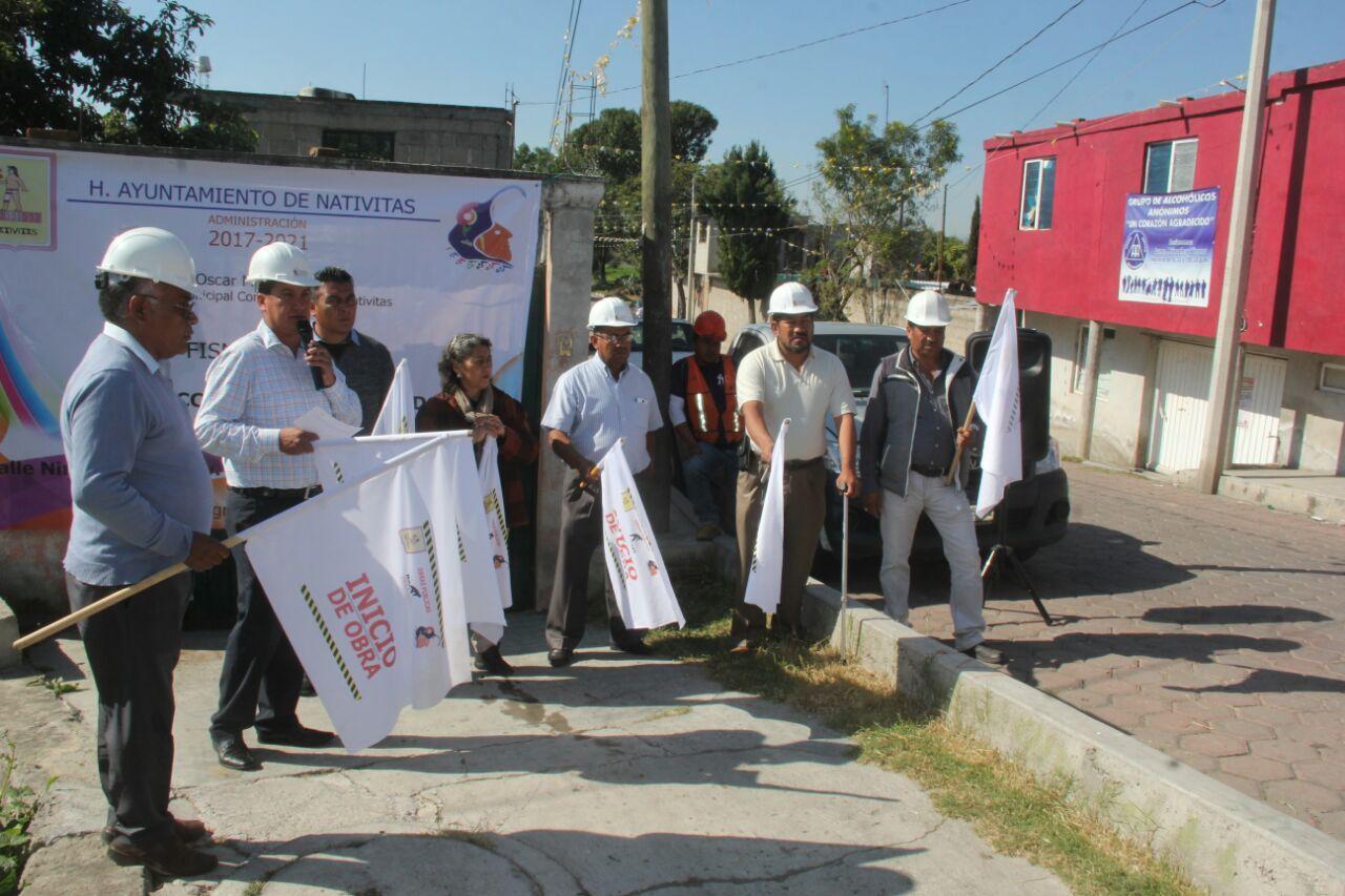 Con obras que mejoran la calidad de vida avanzamos hacia el desarrollo del: alcalde