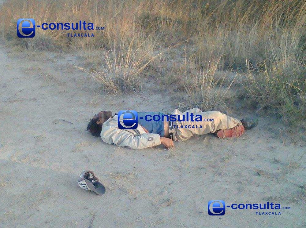 Hallan cadáver en terrenos en Tzompantepec