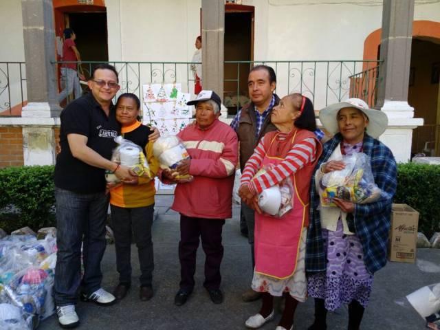 La CEDH realiza labores de limpieza y entrega viveres al asilo de Españita