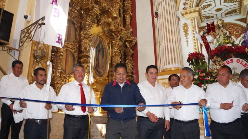 Inauguran retablo de la Virgen de Guadalupe en San Pablo del Monte