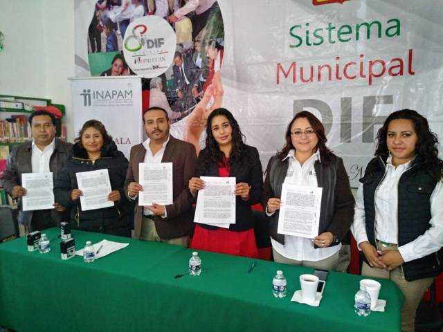 Firma de convenio de colaboración INAPAM – Santa Ana Nopalucan