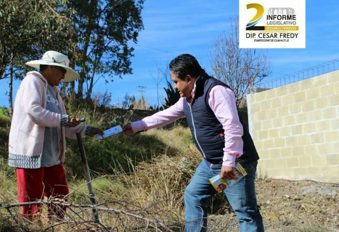 De cara a la ciudadanía culmina informe diputado César Fredy Cuatecontzi