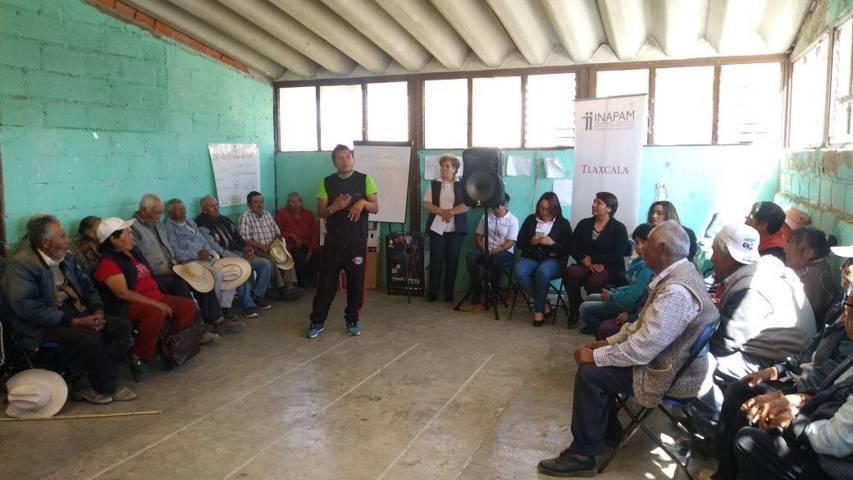 Llevan plática Envejecimiento Saludable a Hueyotlipan y Españita