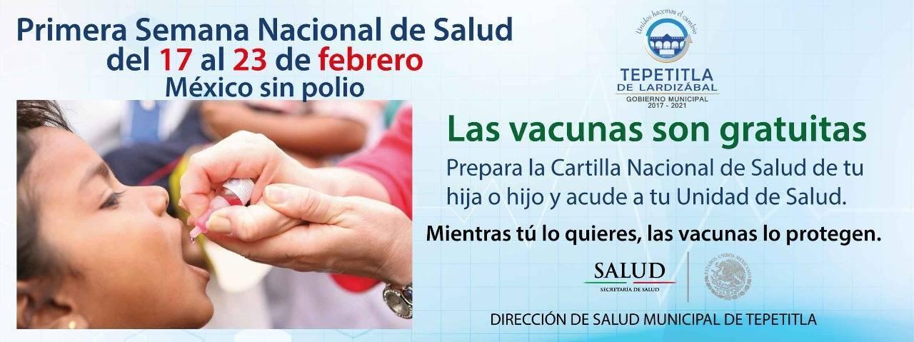 Gobierno de Tepetitla invita llevar a sus niños a vacunar