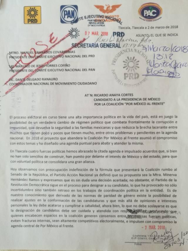 Respaldan a Santiago Sesín dirigencias del PRD, PAN, PAC Y MC.