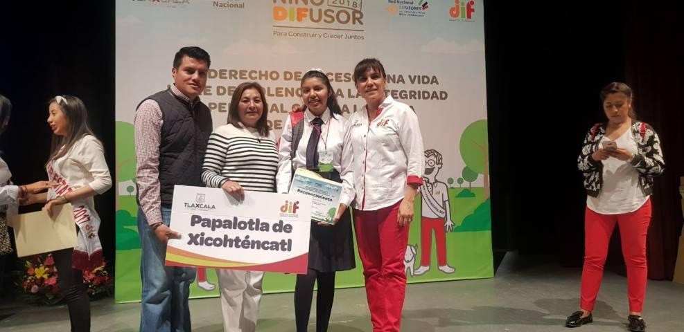 Obtiene Papalotla tercer lugar estatal en concurso de Niño Difusor Estatal 2018