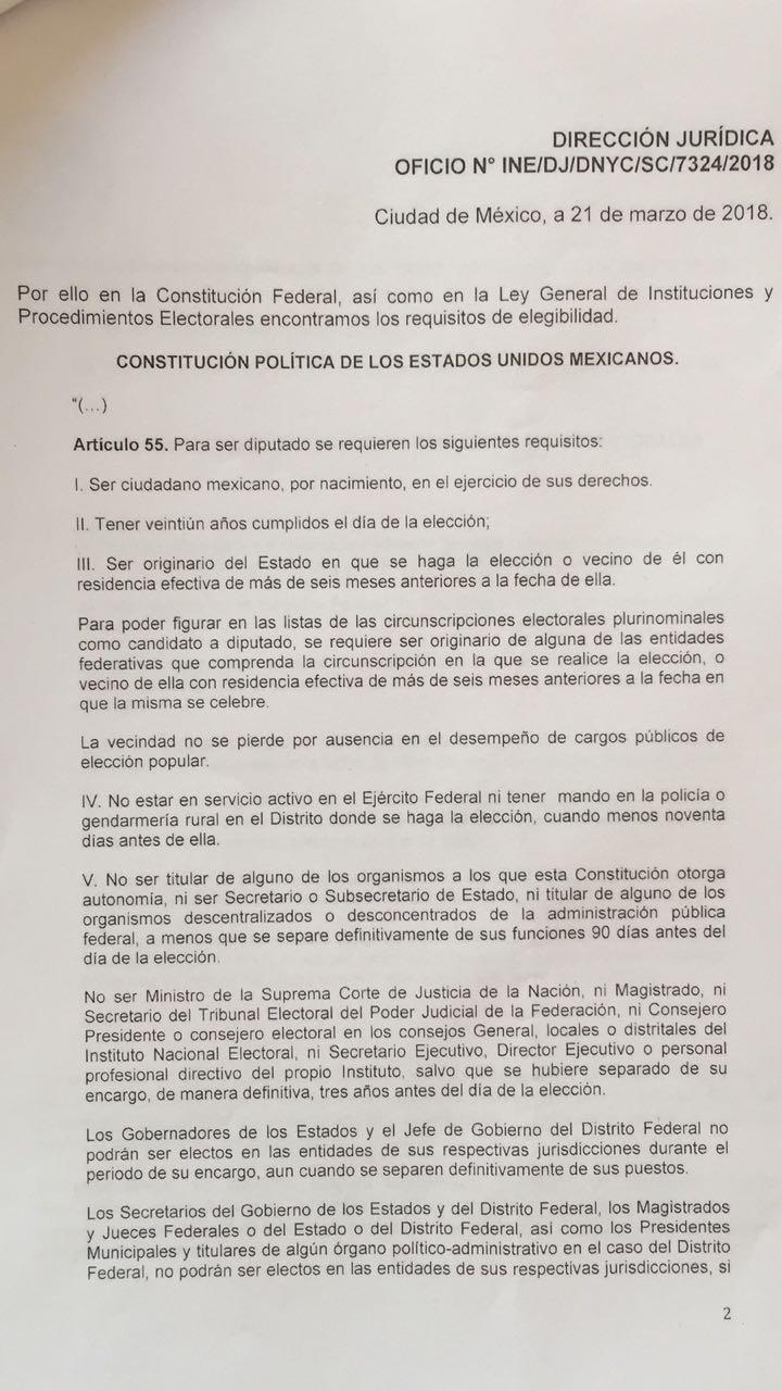 Marianito no fue ningún abusivo;  la ley le permite ser diputado local y candidato
