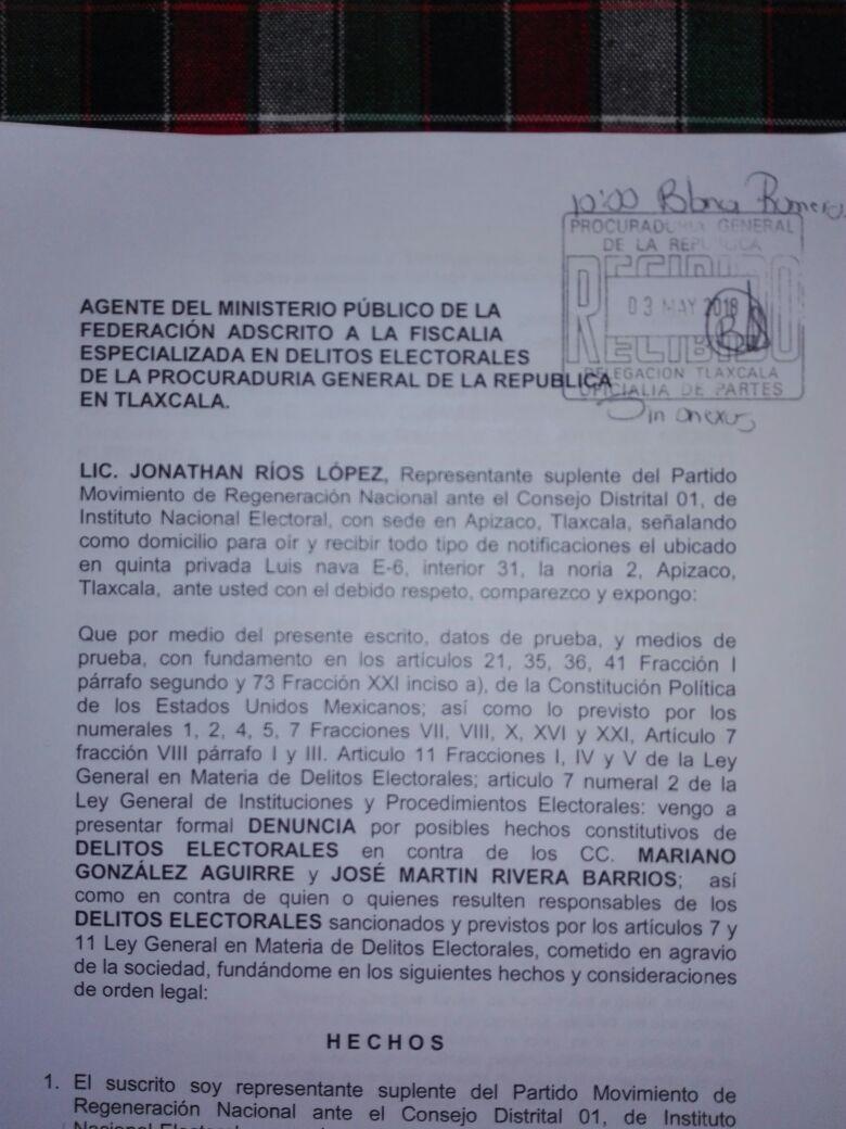 Denuncian a Marianito por delitos electorales