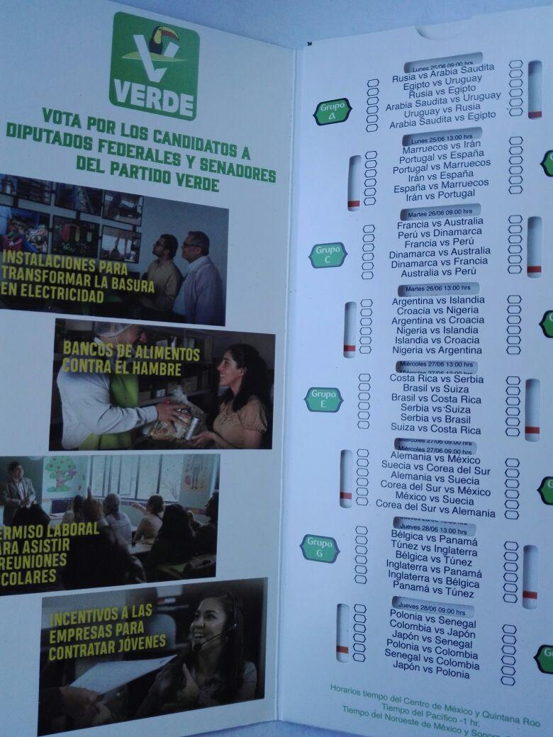 candidatos del Verdes aprovechan mundial para promocionarse