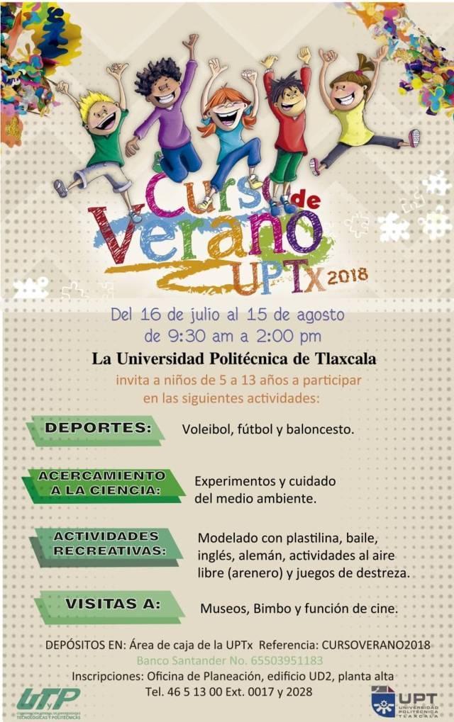 Invita Uptx a participar en el Curso De Verano 2018