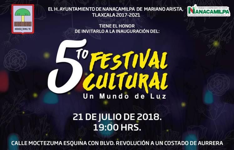 """Este sábado arranca el 5to Festival Cultural """"Un Mundo de Luz"""": alcalde"""