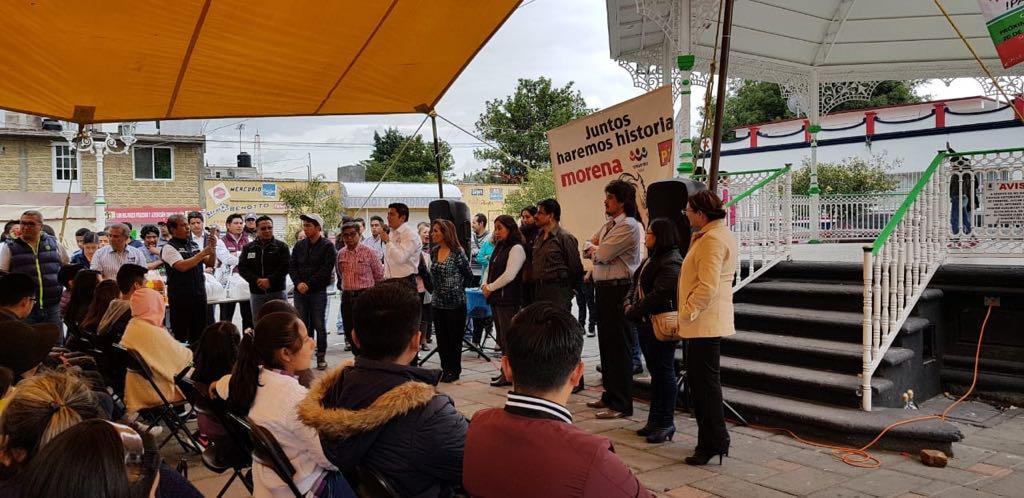 Lorena llega a Amaxac para agradecer el voto y reiterar sus compromisos