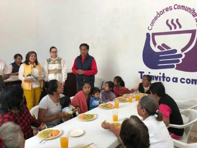 Aperturan comedor comunitario en Papalotla