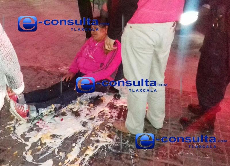 Atropellan a mujer en Zacatelco, responsable huye