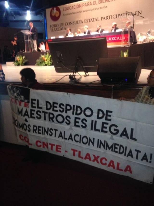 Entre gritos, insultos e incertidumbre la educación en Tlaxcala