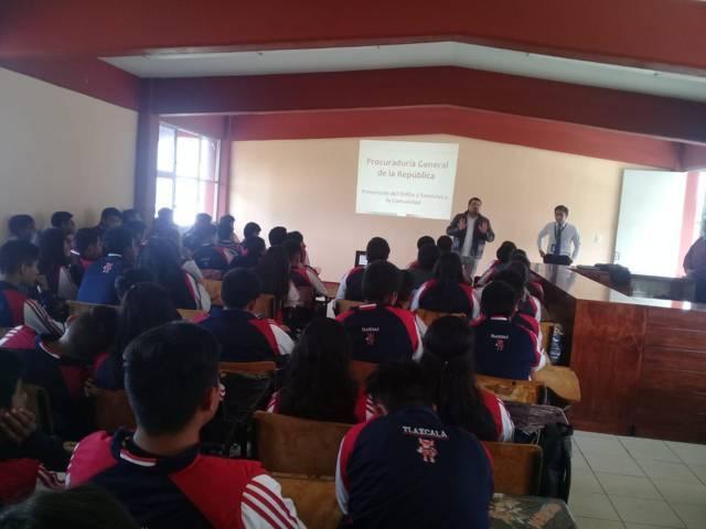 Realizan plática sobre acoso escolar en San Pablo Del Monte