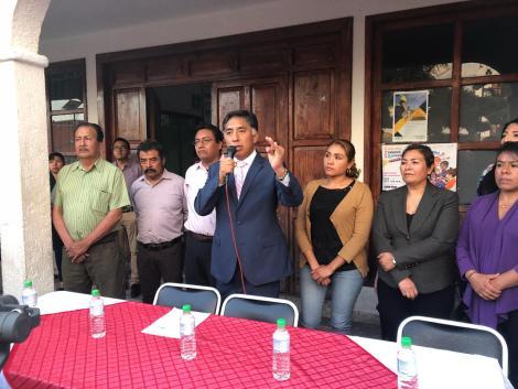 Alcalde de Papalotla frena presión de grupos políticos