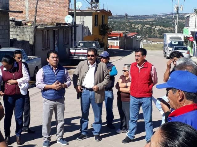 Asiste el diputado José Luis Garrido a inauguración obra en Xaltocan