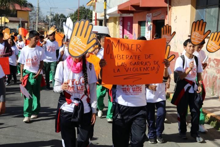 Conmemoran en Papalotla Día Internacional De La Eliminación De La Violencia Contra La  Mujer