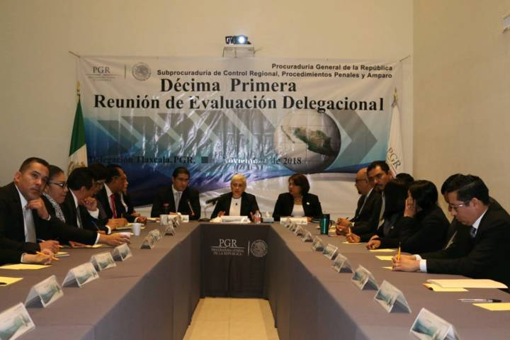 PGR Tlaxcala realiza Décima Primera Reunión De Evaluación Delegacional