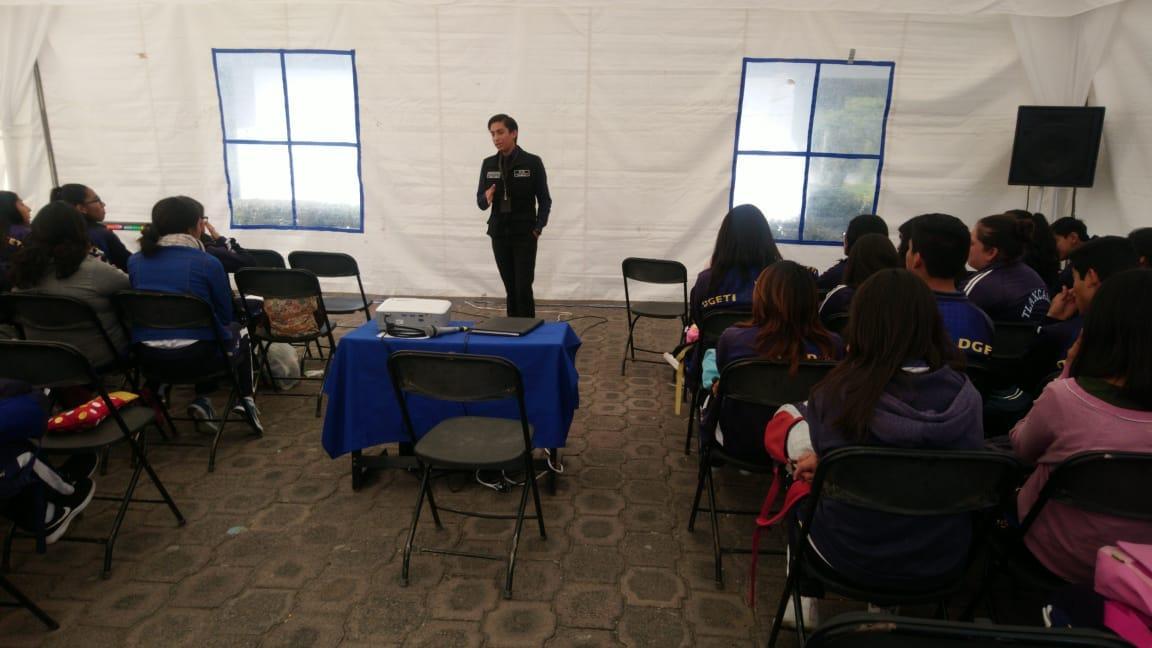 Prevención del Delito ofreció pláticas a estudiantes de Huamantla