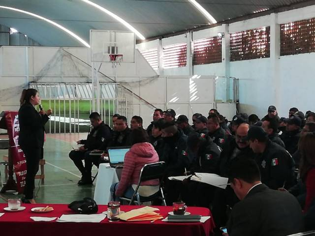 MPF imparte el curso cadena de custodia e informe policial homologado en Zacatelco