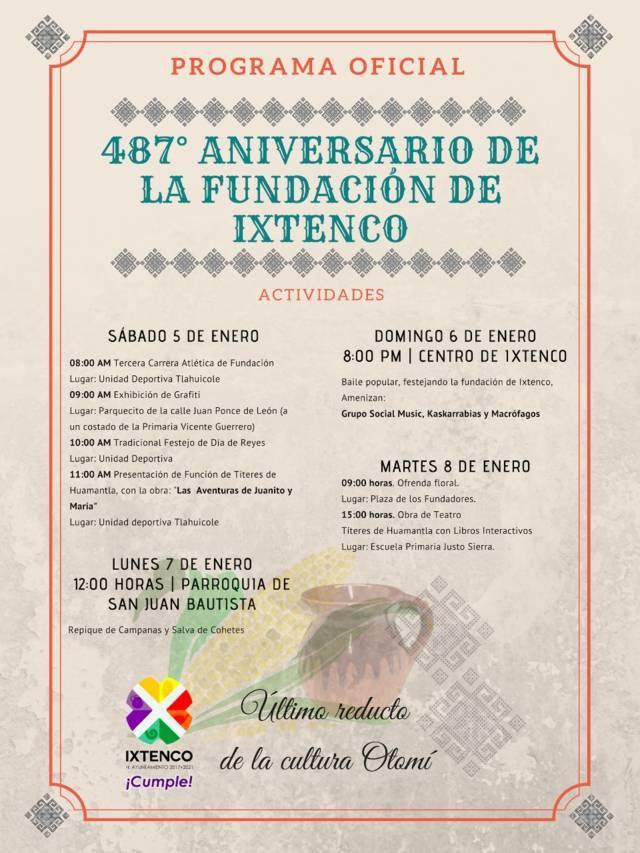 Con diversas actividades se celebrarán el 487 Aniversario de Ixtenco