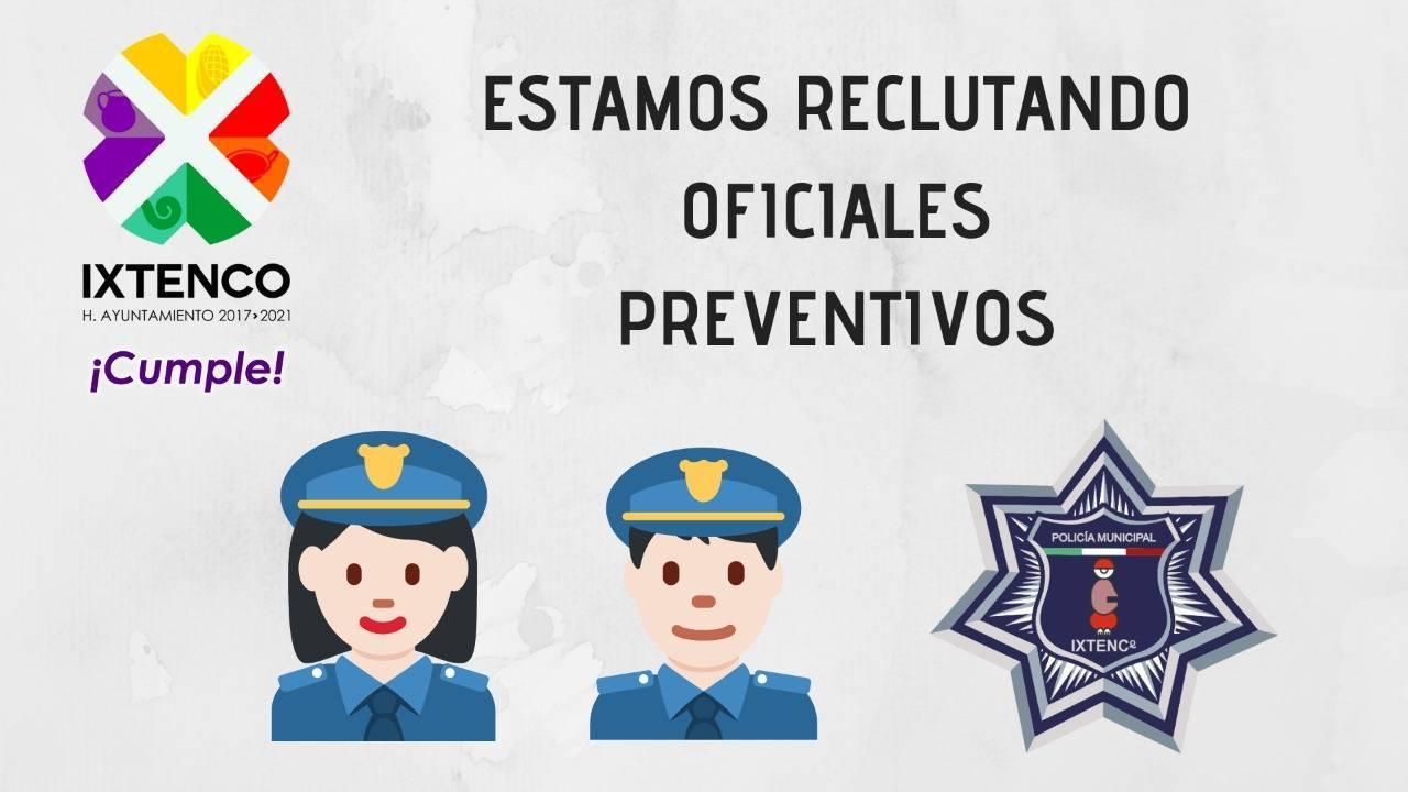 Continúa reclutamiento de elementos policiacos en Ixtenco