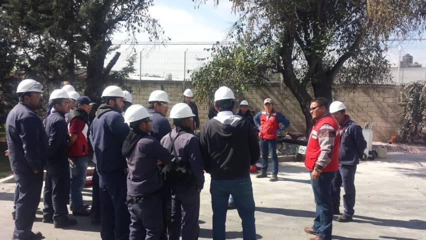 Capacitan a brigadistas de empresa de Papalotla en prevención y atención de incendios
