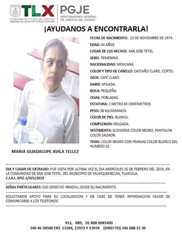 Familiares de mujer desaparecida vienen desde Hidalgo a buscarla
